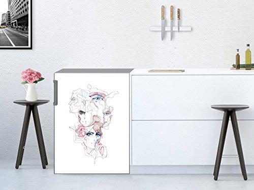 Khlschrank-Motivfolie-60-x-80-cm-Klebetapete-Folie-Sticker-Aufkleber-Kche-kreative-Wohnideen-Design-Motiv-Symbiose
