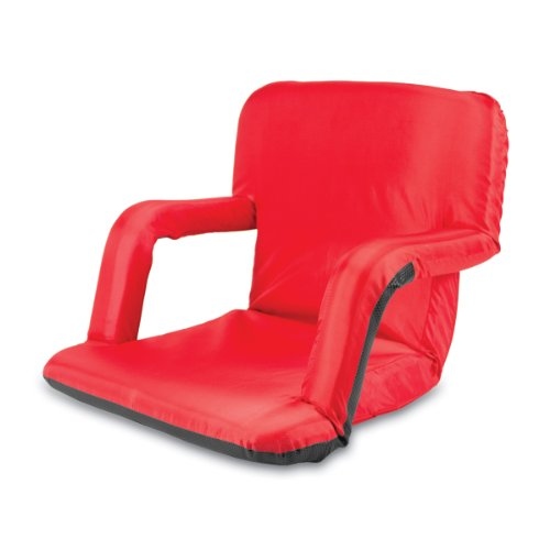 Picnic Time Portable Ventura Reclining Seat Red