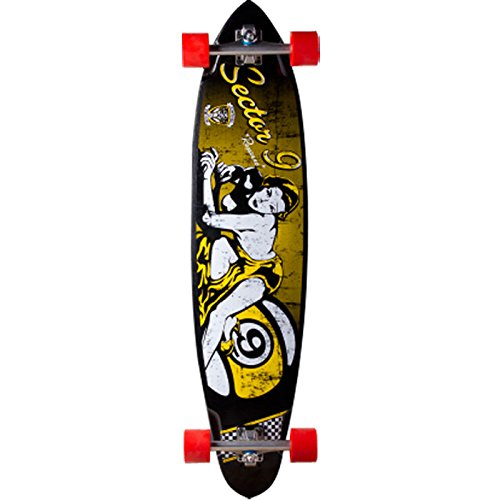 "Sector 9 Downhill Division Complete Skateboard, Roxanne, 42.5"" L X 10.13"" W X 30.75"" Wb"