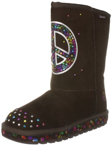 Skechers Junior Keepsakes Blooms Chocolate Microfiber/Multi Trim Classic Boot 88670L 2 UK