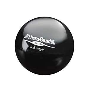 Thera-Band Soft Weight Balls, 3.0 kg - 11cm, Black