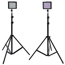 Bestlight® Photography 216 LED Studio Lighting Kit, including (2)W216 Dimmable Ultra High Power Panel Digital Camera DSLR Camcorder LED Video Light (2)75\