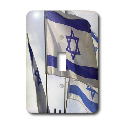 Lsp_182863_1 Florene - Flags Of World Flying - Print Of Israeli Flags Flying In A Row Against The Sky - Light Switch Covers - Single Toggle Switch