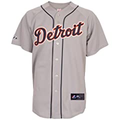 MLB Mens Detroit Tigers Victor Martinez Road Gray Baseball Jersey By Majestic by Majestic