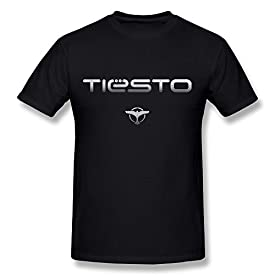 Next Style Men's Tiesto DJ Custom Vintage Black T-Shirt