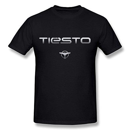 Next Style Men's Tiesto DJ Custom Vintage Black T-Shirt