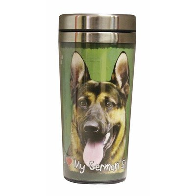 E&S Pets Stainless Steel German Shepherd Tumbler, 16 oz