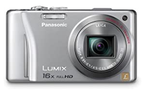 Panasonic Lumix DMC-ZS10 14.1 MP Digital Camera with 16x Wide Angle Optical Image Stabilized Zoom and Built-In GPS Function (Silver)