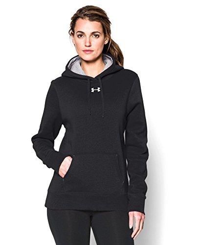 Under Armour Women's UA Team Rival Fleece Hoodie Medium Black