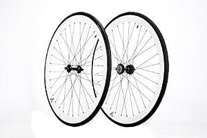 Retrospec White Super Deep-V Fixie Wheelset