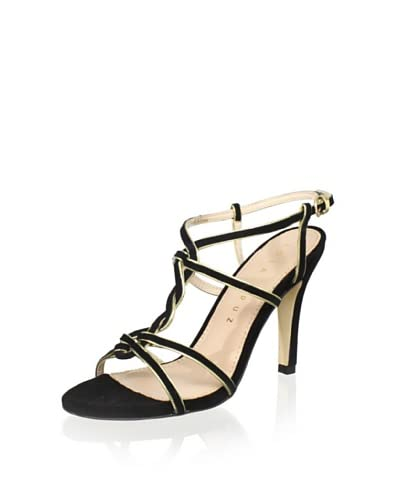 Lola Cruz Women's High Heel Sandal  - Negro/Oro