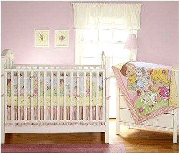 Beautiful Precious Moments Playful Friends Piece Crib Bedding Set