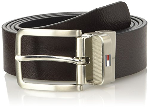 Tommy Hilfiger Am0Am01303, Cintura Uomo, Marrone (Black/Brown 901), 95