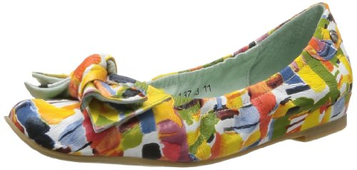 Couleur Pourpre Women's 701 Ballet Flats Orange Orange (Picasso Multicolor) 4