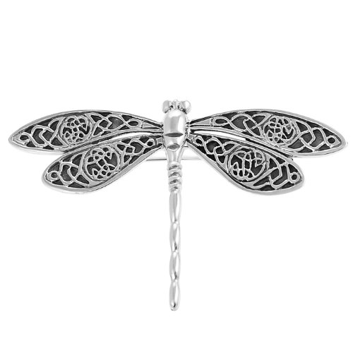 Sterling Silver Celtic Dragonfly Pin