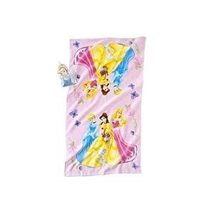 Amazoncom disney princess 2 piece bath set bath towel for Disney princess bathroom set