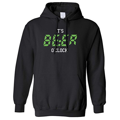 It's Beer O'clock, Time To Drink!! Funny Slogan Drink Hoodie. (Beer O Clock compare prices)