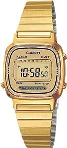 Casio - LA670WEGA-9EF - Vintage - Montre Femme - Quartz Digital - Cadran Doré - Bracelet Acier Doré par Casio