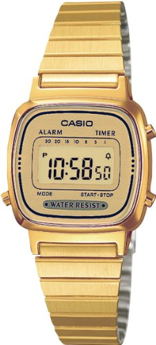 Casio Ladies Bracelet Digital Watch La670Wega-9Ef