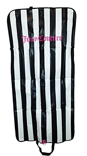 Juicy Couture Garment Bag Long Dress Carrier Travel Tote Black/white