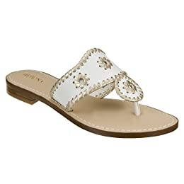 Product Image Women's Merona® Enid Whipstitch Flat Sandals - White/Gold