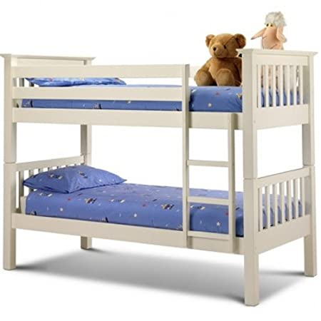 Julian Bowen Barcelona Bunk Bed With 2 x Premier sprung Mattresses