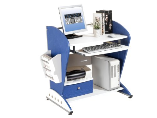 Buy Low Price Comfortable Mad Tech 36x24x40 Blue & White 100% Mdf Construction Computer Office Desk Table (B004W0MDFY)