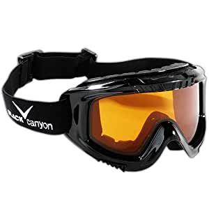 Black Canyon Men's Ski Goggles - Black