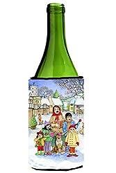 Carolines Treasures CDCO0410LITERK Christmas Carol Singers Wine Bottle Can cooler Hugger