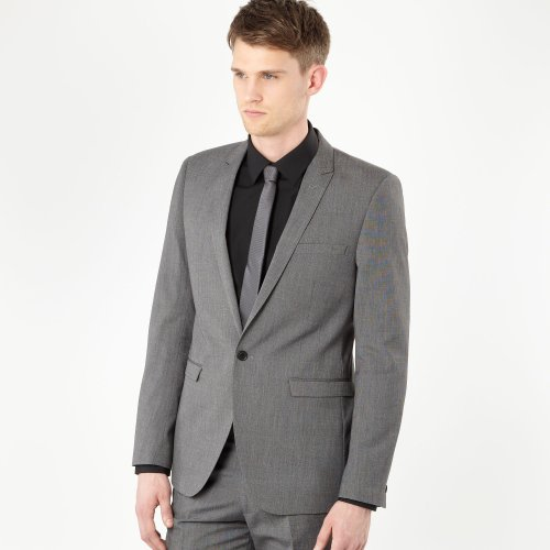 Red Herring Red Line Grey Pin Dot Suit Jacket