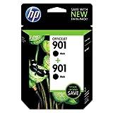 HP TWO HP 901 BLACK INK CARTRIDGES