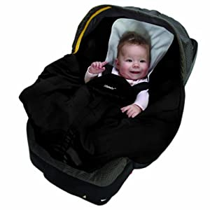 Bunting Bag and Carry Cot - Black w/Black Lining