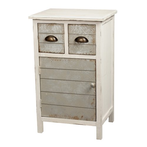 Distressed Wood Nightstand
