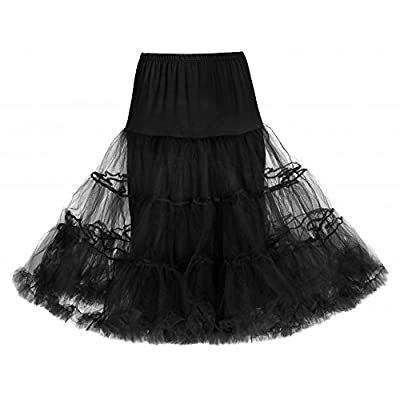 "Lindy Bop Classic 26"" Organza Net Mesh Tulle Petticoat for Rockabilly Swing Dresses"