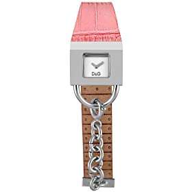 D&G Dolce & Gabbana Women's Stainless Steel  Pink Leather Strap Watch #3719251590
