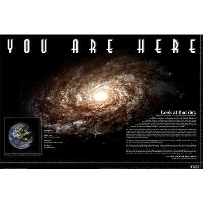 You Are Here Poster ~ Solar System Galaxy ~ Exclusive 
