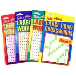 Large Print Crossword Puzzle Book. (Volume No. Varies)