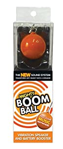 Review and Buying Guide of Cheap  Mighty Boom Ball Orange Vibration Speaker