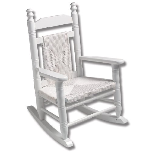 Child Woven Seat Rocking Chair - Pure White : Rocking Chairs