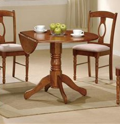Stunning Dining Table w Drop Leaf in Oak by Poundex