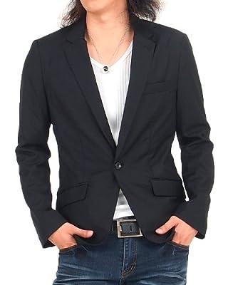 (トップイズム)TOPISM メンズ テーラードジャケット スーツ生地 長袖 ジャケット ブレザー シングル