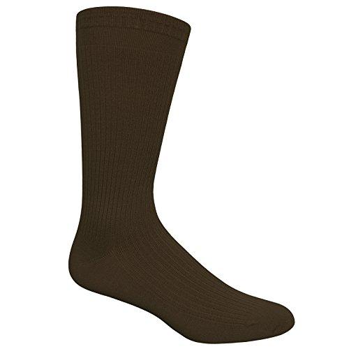 Dr. Scholl's Men's Ultra Comfort 2 Pack Crew Dress Sock