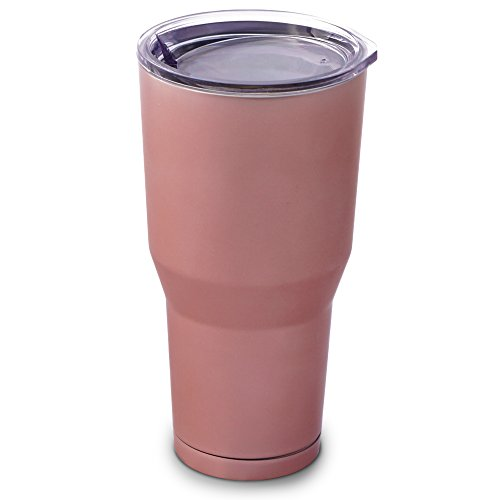 Rose Gold Mugs Insulated Stainless Steel Tumbler, 30-Ounce