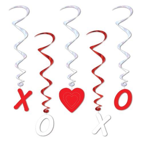 Valentine Whirls   (5/Pkg)