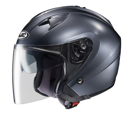 Hjc Is-33 Open-Face Motorcycle Helmet (Anthracite, X-Large)