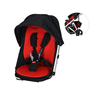 Phil & Teds Verve Double Kit Only - Black/Red by Phil and Teds