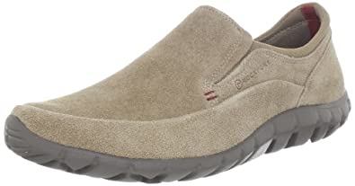 Rockport Men's Truwalk Zero Slip-On,Taupe Suede/Tan,9.5 M US