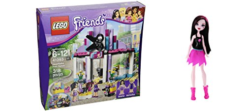 LEGO Friends Heartlake Hair Salon 318 Pcs & free Gifts Ghoul Spirit Draculaura Doll (Colors may vary) Toys (Juice Bar Lego Friends compare prices)