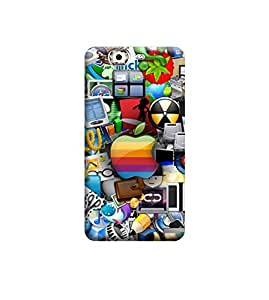 Ebby Premium Printed Back Case Cover With Full protection For Micromax A350 (Designer Case)
