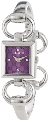 Gucci Women's YA120510 Tornabuoni Square Lilac Dial Watch